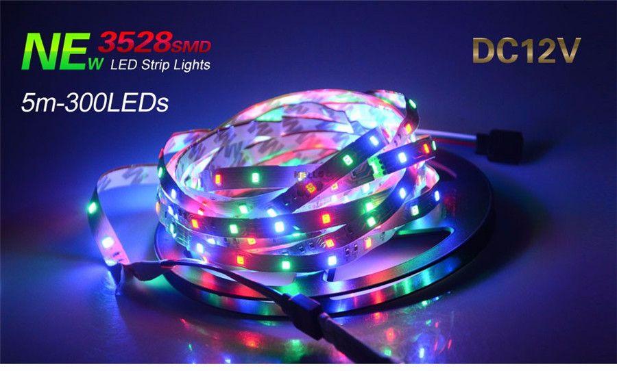 LED Strip Light 3528 SMD 5M 300leds 12V Flexible LED Ribbon Diode Tape RGB & Single Colors Ledstrip High Quality Fita LED