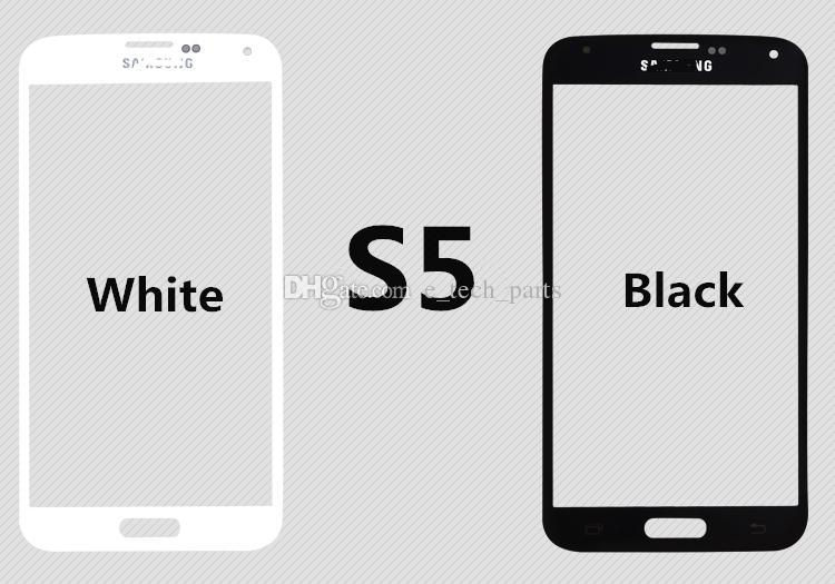 OCA Film ile 50 ADET Ön Dış Cam Lens için Samsung Galaxy S3 I9300 S4 I9500 i9505 i337 S5 G900F G900 Yenileme parçaları
