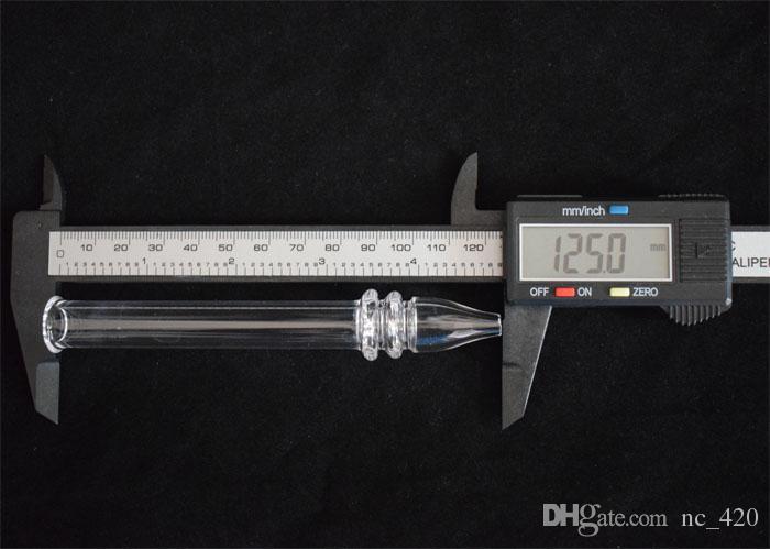 Quarz Rig Stick Nagel Mini Nektar Collector mit klaren Filter Tipps Tester Quarz Stroh Rohr Glas Wasserleitungen Rauchen Zubehör