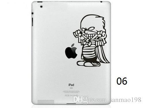 Hot Originality Cartoon-10 series Vinyl Tablet PC Decal Black Sticker Skin for Apple iPad 1 /2 / 3 / 4 / Mini Laptop Skins Sticker