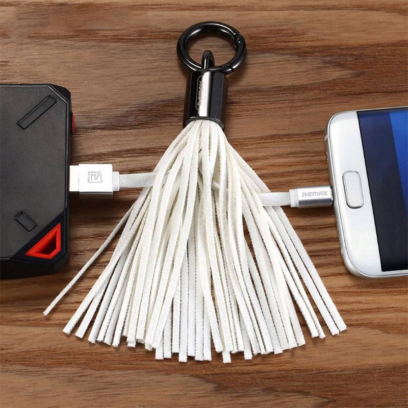 Glands Charge Données Câble ligne Portable Porte-clés Micro USB V8 PU chargeur Sac Décoration Chaîne Sync Cordes De Charge Rapide Pour Samsung CAB200