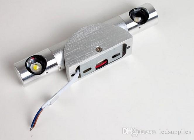 침실의 크리 에이 티브 LED 벽 램프 침대의 머리 앉아 룸 TV 설정 램프 알루미늄 계단 벽 램프
