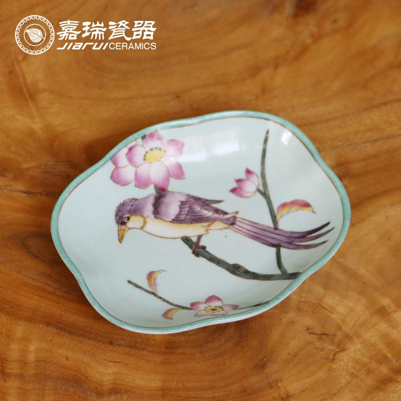 2018 Hand Painted Ceramic Soap Dishes Bathroom Supplies Floral And Birds Pattern Soap Dish