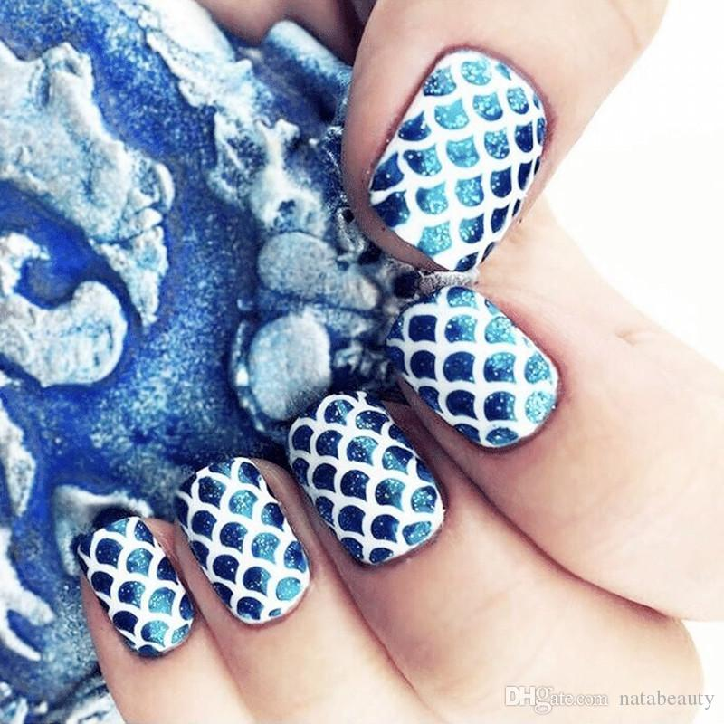 3d 24styles Hollow Nail Decals Full Nail Stickers Water Transfer ...