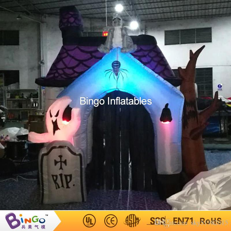 2018 halloween inflatable haunted house with led light horror decoration from sky51982015 81408 dhgatecom