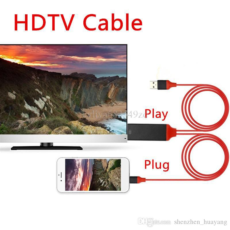 Type c HDTV Cable 2m 6FT Dock to HDMI HDTV TV Adapter USB Cable 1080P For Samsung Galaxy S8 with retail box