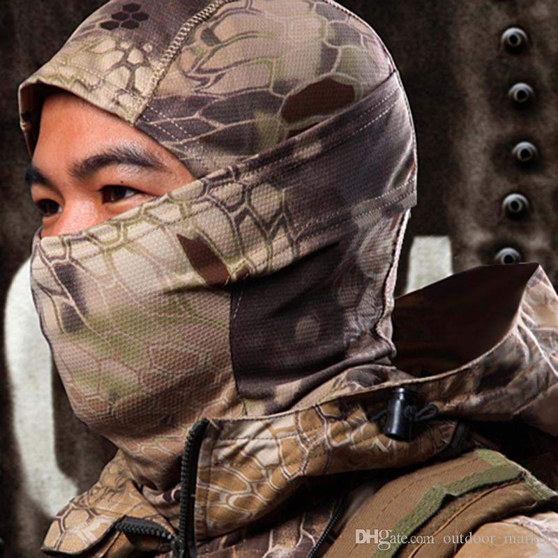 위장 사냥 사이클링 오토바이 야외 Balaclava 전술 전면 얼굴 마스크