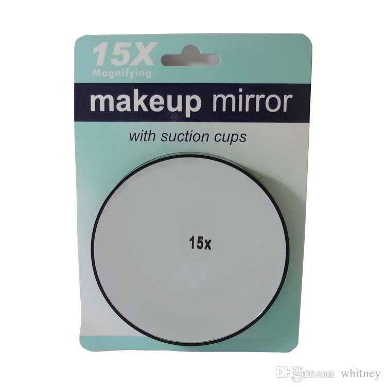 15x10x5x 3x Magnifying Mirror Suction Cup Makeup Compact Cosmetic