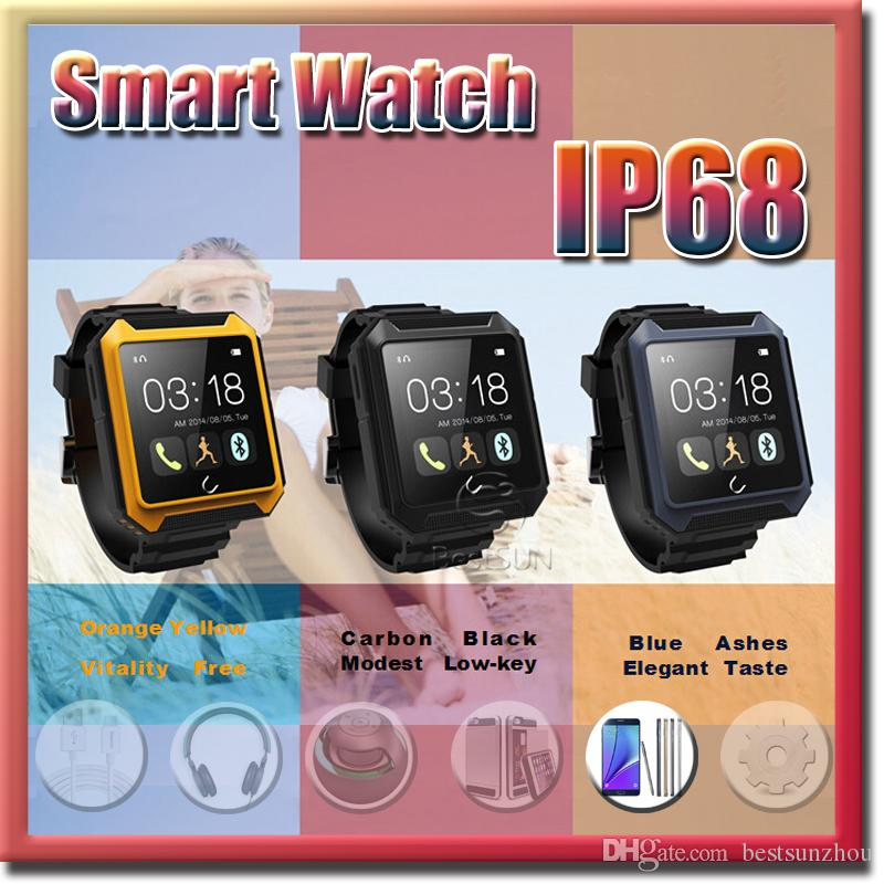 2017 New Style Bluetooth Smart Watch Wrist Uterra IP68 Waterproof  Passometer Compass Call Sync For Iphone Samsung Smartphone Free DHL