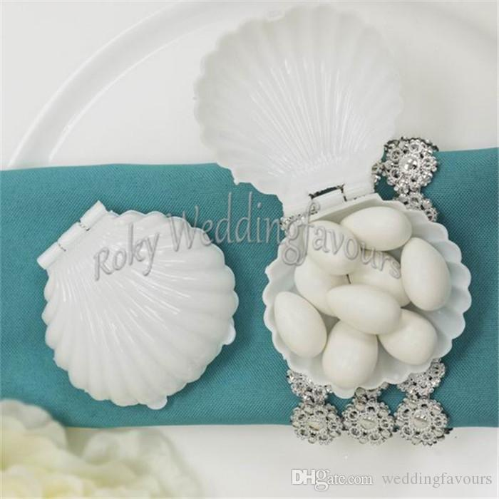 Seashell Favor Boxes Wedding Favors Holder Birthday Party Supplies