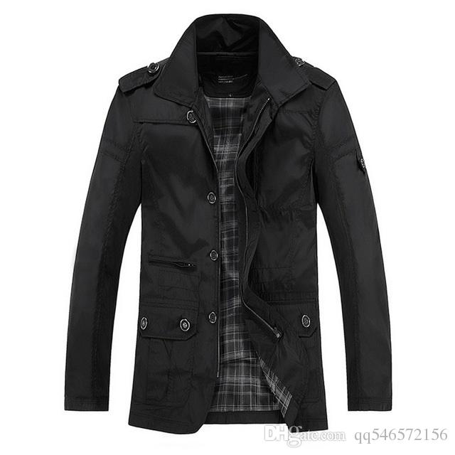Autumn Winter Men Casual Jackets Cheap Thick Light Waterproof Plus ...