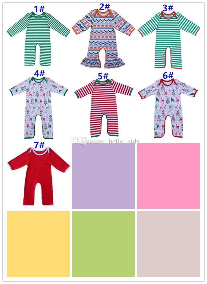 Herfst Baby Kids Gepersonaliseerde Kerst Pyjama's Volledige Stuk Pasgeboren Zuigeling Kerst Pyjama's Baby Kerstmis Romper Monogram Christma Toga