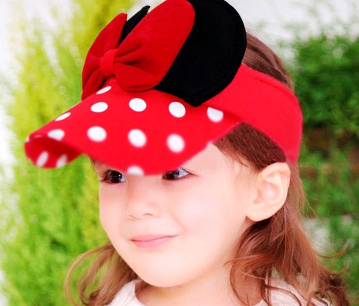 Adorável Viseira de Algodão Topless Chapéu de Sol Para As Crianças de Verão Ao Ar Livre Bonés de Beisebol 10 pçs / lote Frete Grátis