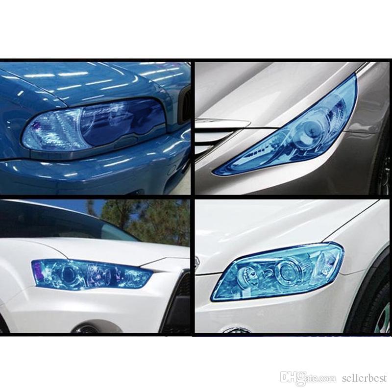 Venda quente 120 * 30 cm Auto Luz Do Carro Farol Taillight Tint Vinil Film Sticker Folha Luz Preto Car Light Cor Mudança Adesivo