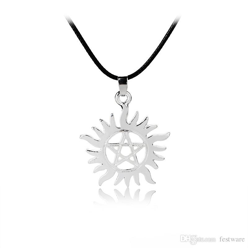 Wholesale 2017 new shining sun supernatural pendant necklace movie wholesale 2017 new shining sun supernatural pendant necklace movie jewelry super natural sun male female necklace for men and women number pendant necklace aloadofball Gallery