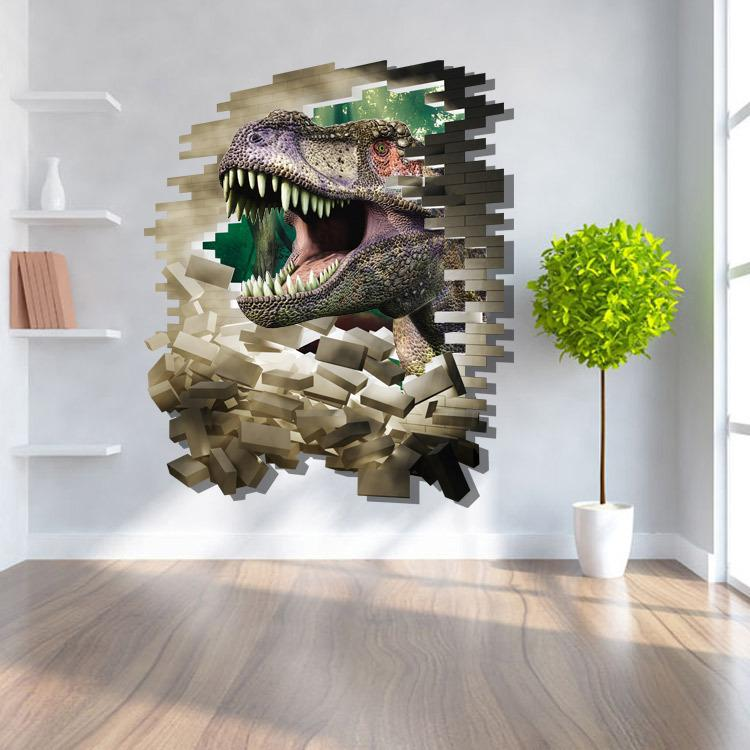 New Arrival D Dinosaur Wall Sticker Movie Jurassic World Decal - 3d dinosaur wall decals