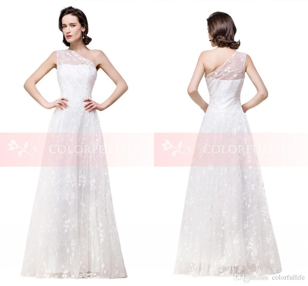 Discount New Charming White Lace A Line Wedding Dresses