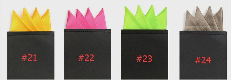 2016 신품 샤프 코너 포켓 스퀘어 24 색 솔리드 포켓 타월 남성 정장 포켓 한 벌 칵테일 파티 용 결혼식 파티 크리스마스