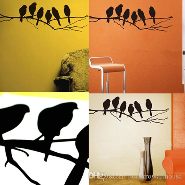 Removable Birds Branch Tree Wall Stickers Home Art Decals DIY Living Room Decor