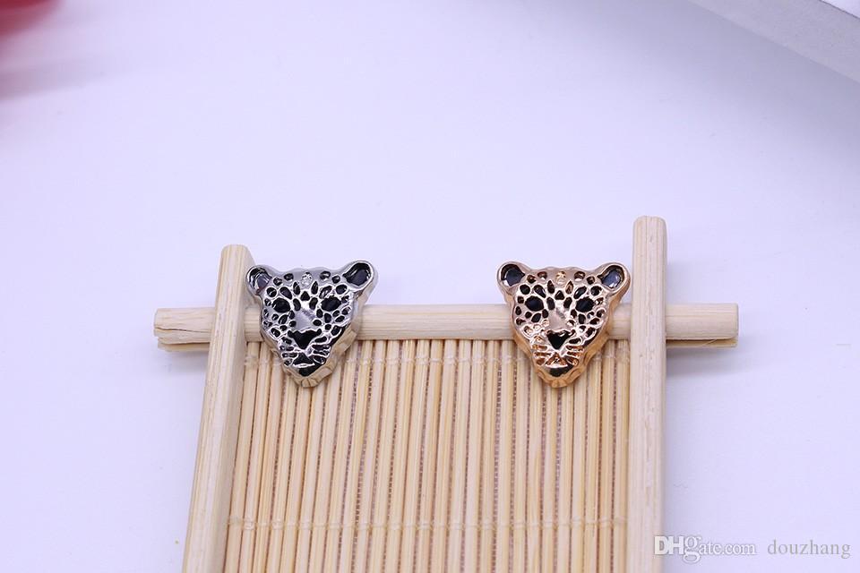 Unisex 12 Pz Leopard Head Spilla Animal Brooch Fashion Apparel Gadgets Leopard Head Shirt Men Jewelry