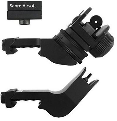 GDT AR15 AR 15 Front and Rear 45 Degree Rapid Transition BUIS Backup Iron Sight