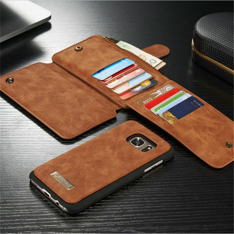 quality design cbff0 edd17 Caseme 14 Cards pocket wallet Case multifunction pu leather wallet pouch  for iphone se 5 5s 6 6s plus samsung s6 edge plus s7 s7 edge note 5