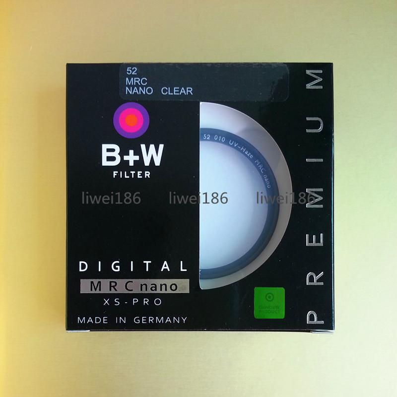 52mm UV B+W Filter XS-PRO MRC Nano MC 58 Circular Haze Protectiver Ultra-thin Black Almite Frame Multi-Resistant Coating For camera Lens