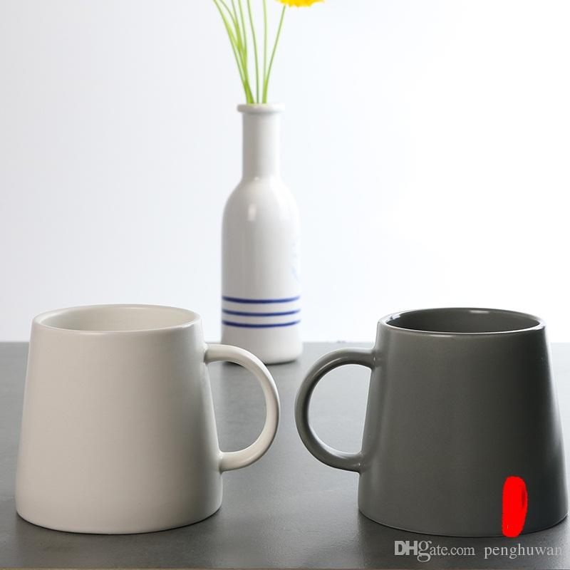 office cups. 2017 The Latest Beautiful Ceramic Mugs Solid Color Cups Office Coffee Mug Large Capacity From Penghuwan 15076 DhgateCom E