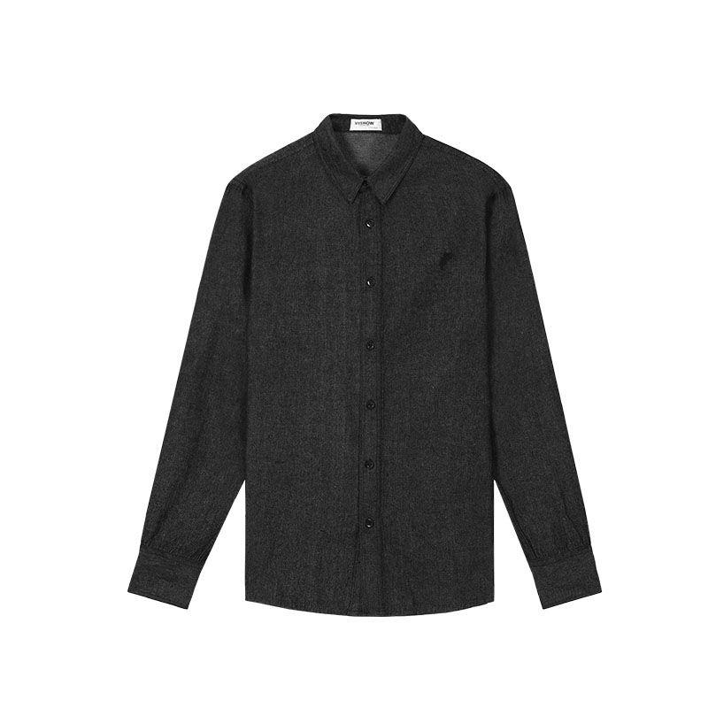 2018 European Style Long Sleeve Black Men Shirt Slim Fit Outwear ...