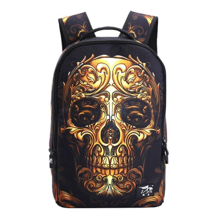 3d Cool Backpacks Bag Leisure Outdoors Men Women Backpack Polyester