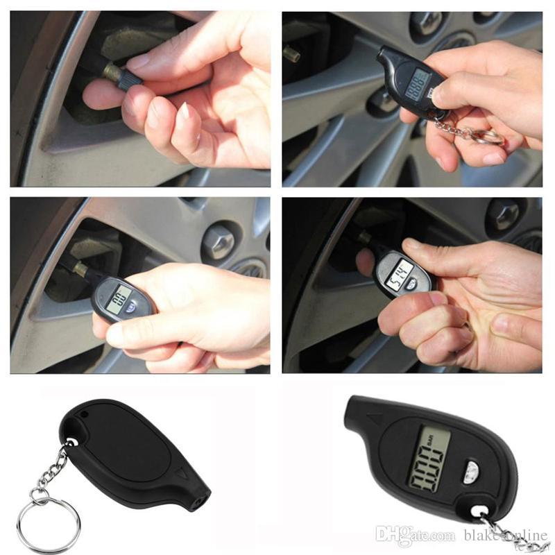 Keychain LCD Digital Screen Tire Pressure Gauge Universal LCD Display Digital Tyre Pressure Gauge for Car Truck Bike