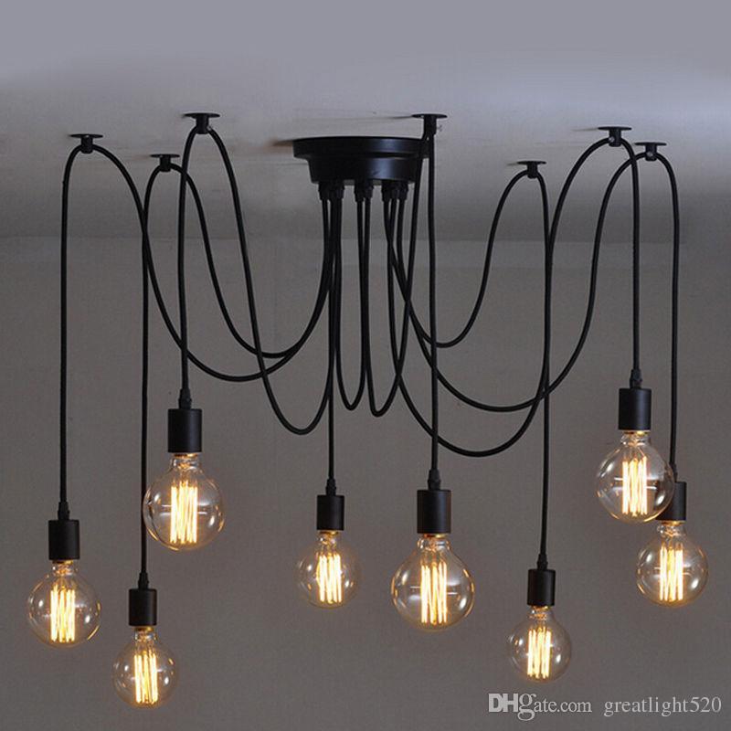 Edison Bulb Light Ideas 22 Floor Pendant Table Lamps: Hardwired Vintage Soft Pendant Light Edison Industrial
