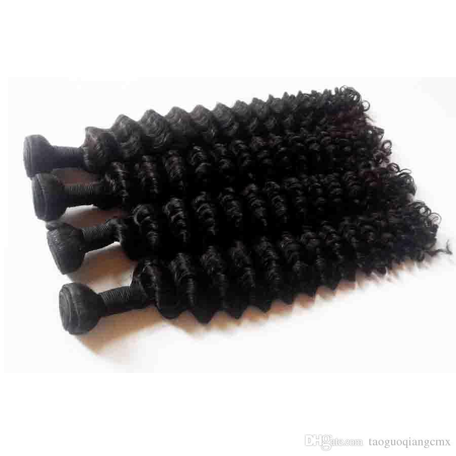 L'état brut extension de cheveux humains sexy Formule 3 malaysian Bundles vague profonde Weave cheveux humains meilleures extensions cheveux mouillés et ondulés Bundles