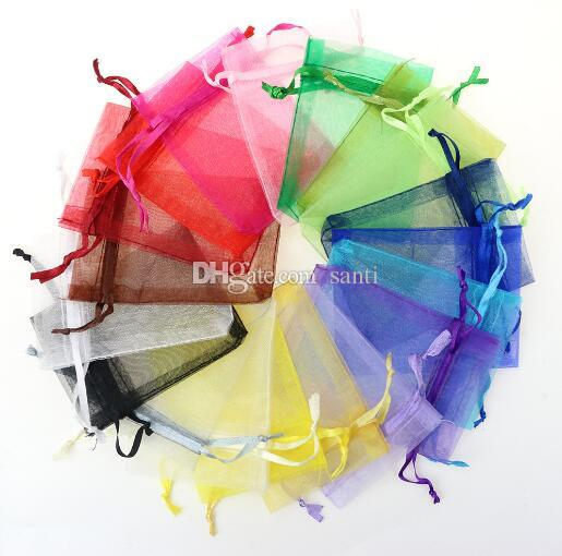 7x9cm Wedding Decorations Baby Shower Organza Bags Jewelry Gifts Party Favor Candy Birthday Supplies Packaging Goodie