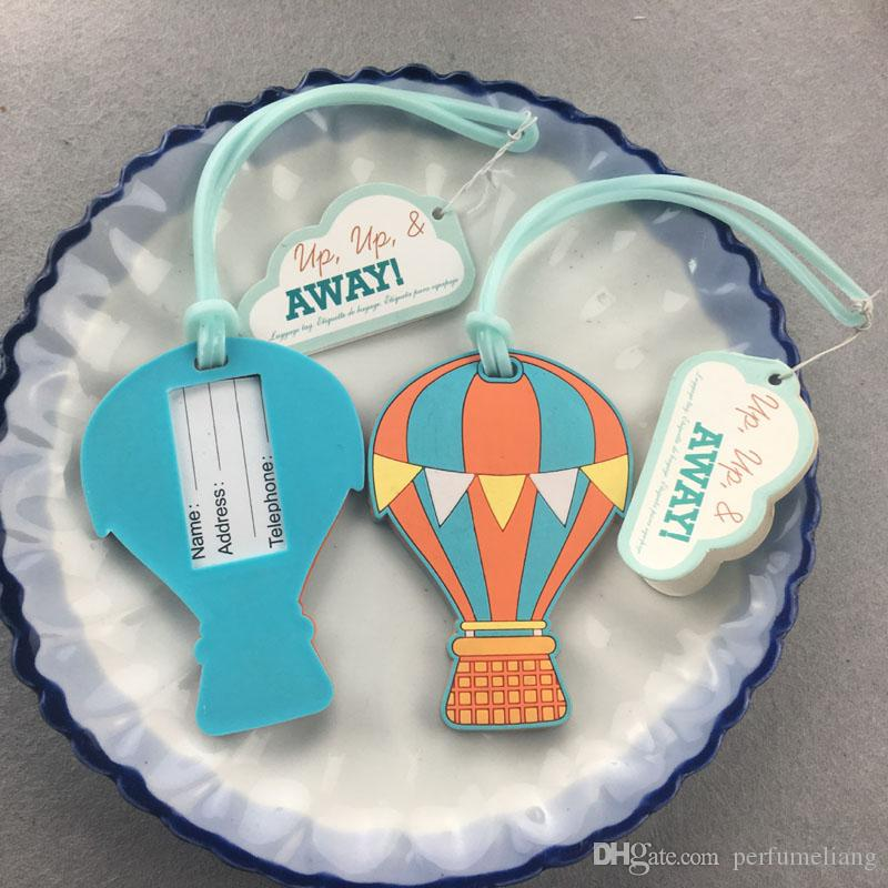 Travel Accessories Luggage Tag Suitcase Cartoon Style Cute Air Balloon Plastic Address Label ID Tags Wedding Favors Party Gift ZA0967