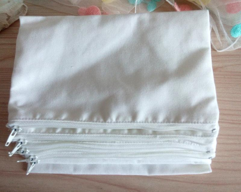 2018 eco white canvas cosmetic bags diy women blank plain for Diy blank canvas