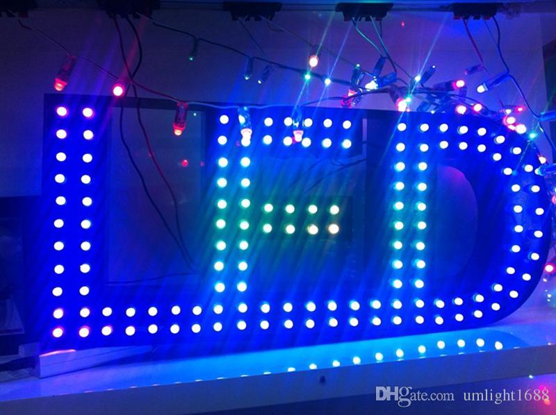Umlight1688 Neue WS2811 Led Pixel Modul 12mm IP65 Wasserdicht DC5V Farbige RGB String Weihnachten LED Licht Adressierbar 3000 STÜCKE