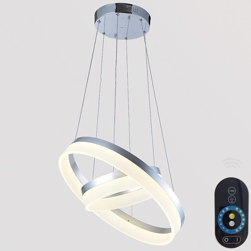 new design led pendant light white ring lamp acrylic suspension chandeliers light lustre led home dimmable lighting decoration ce fc vallkin home light - Suspension Design Led