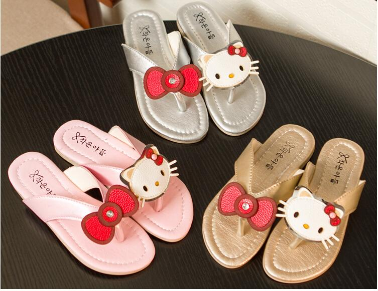 da9f7be4a8a6d6 Kids Slippers Girls Summer Flip Flops Cartoon Girls Sandals Kids Shoes Cat Princess  Sandals Flip Flops Toddler Boy Slipper Socks Toddler Owl Slippers From ...