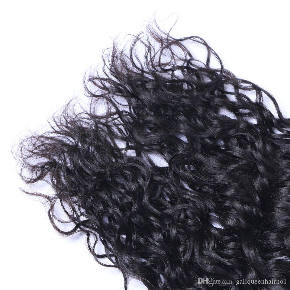 İşlenmemiş Brezilyalı İnsan Remy Bakire Saç Doğal Dalga Saç Örgüleri Saç Uzantıları Doğal Renk 100g / Bundle Çift Atkı 3Bundles /