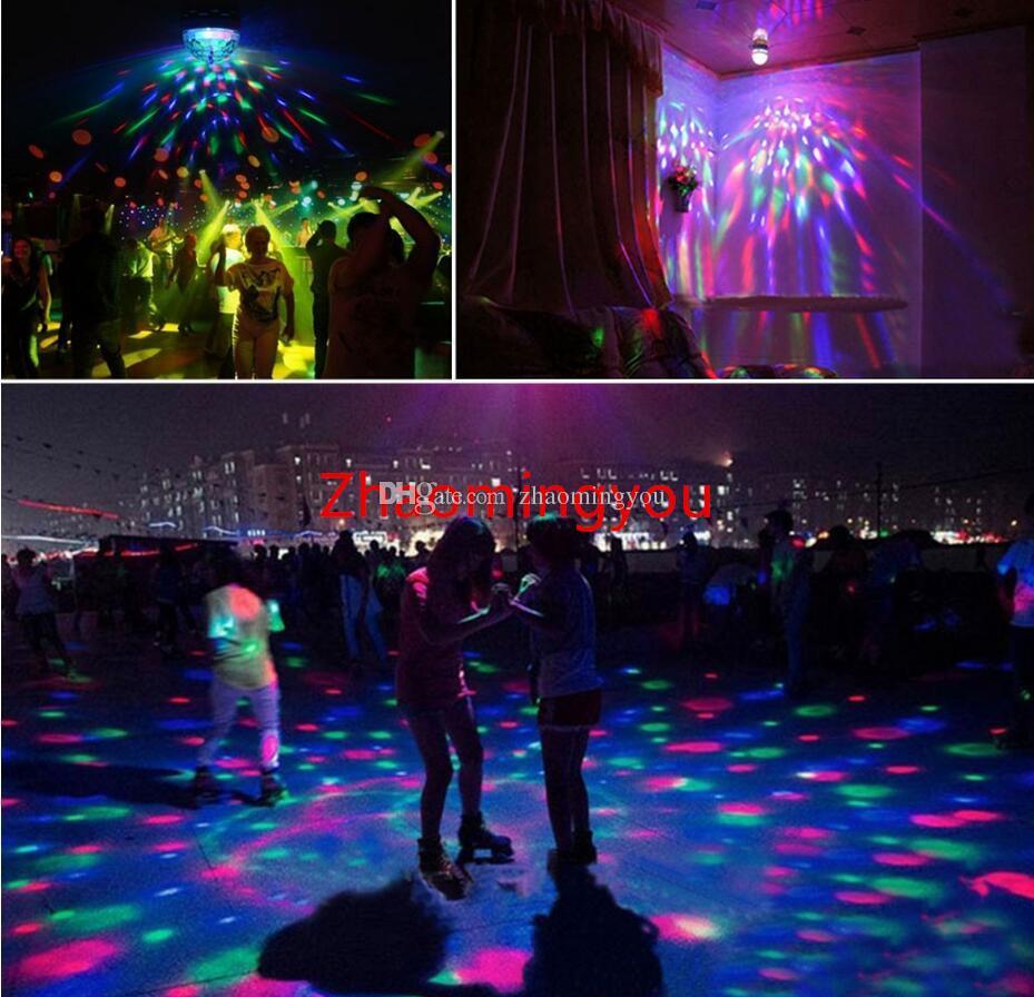 E27 3W 6W LED lampe RGB Auto Rotation Stage lumière ampoule De Vacances AC85V-265V Pour La Maison Décoration Disco DJ Party Dance éclairage