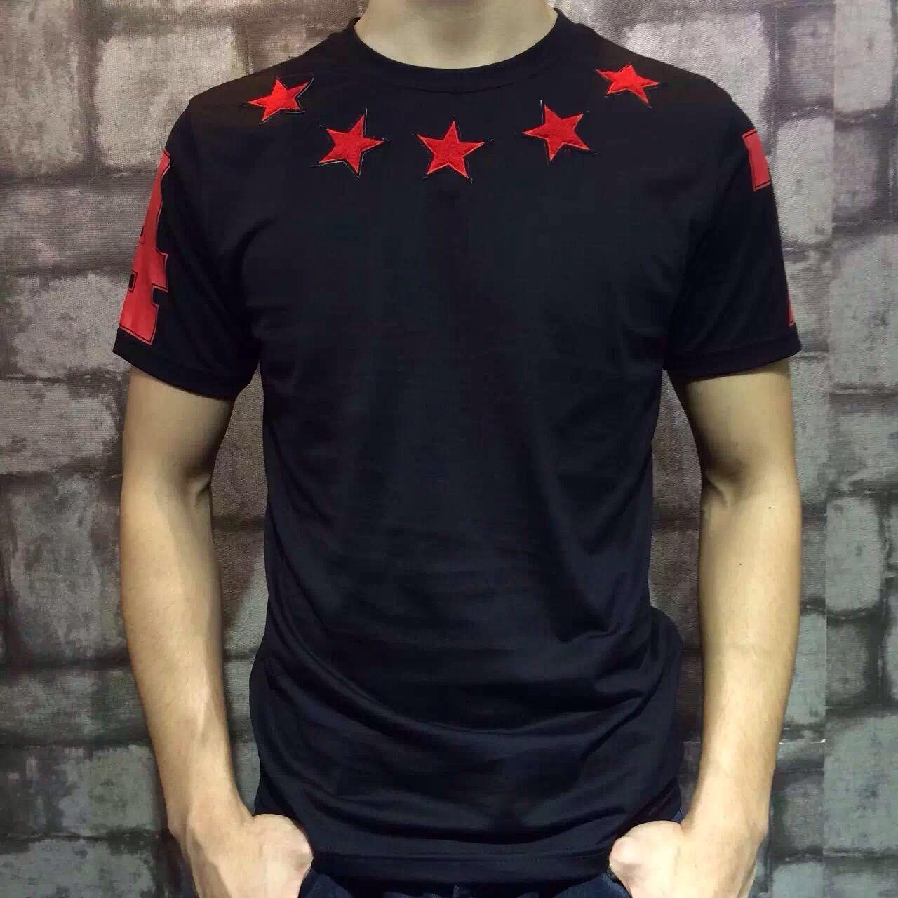 2016 новая мода лето футболка мужчины o-образным вырезом хлопок стекаются пентаграмма 47 цифровой с коротким рукавом мужская футболка мужская брендовая одежда