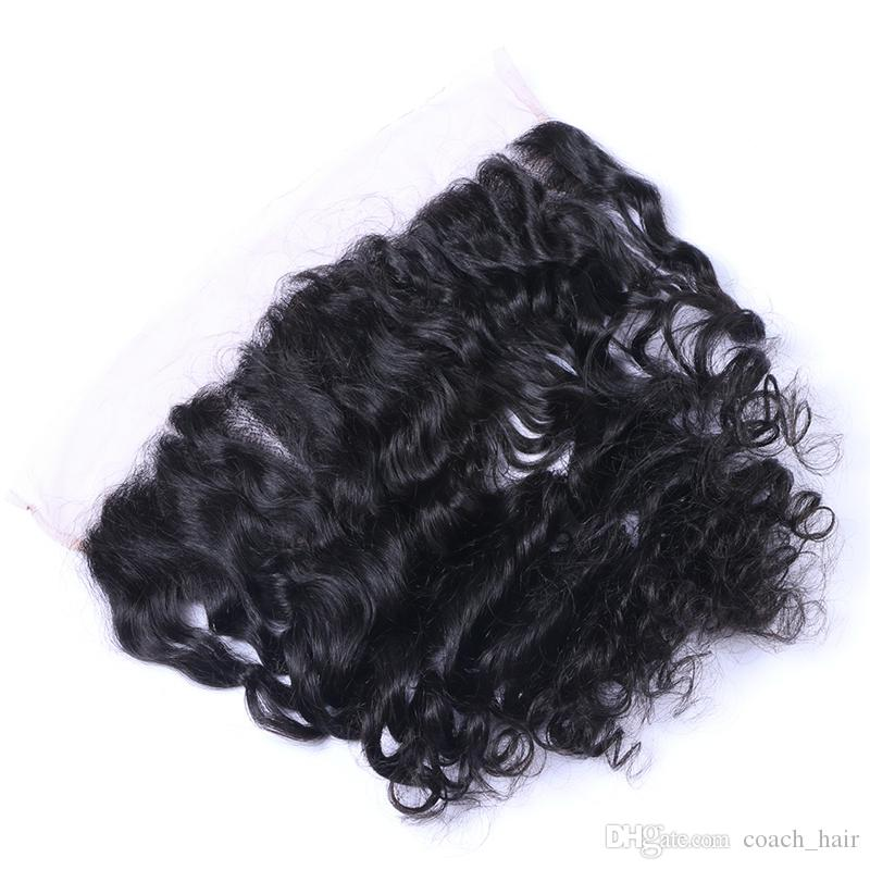 8A Brazilian Loose Wave Virgin Hair With Silk Base Frontal Human Hair Weaves Loose Wave With Silk Base Frontal Closure