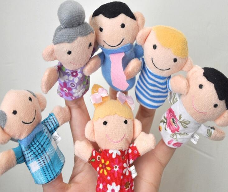 Bebek Peluş Oyuncaklar Parmak Kuklaları Konuşan Sahne 10 hayvan grubu mini çift katmanlı karikatür doldurulmuş hayvan oyuncak 10 ps / takım Ücretsiz Kargo