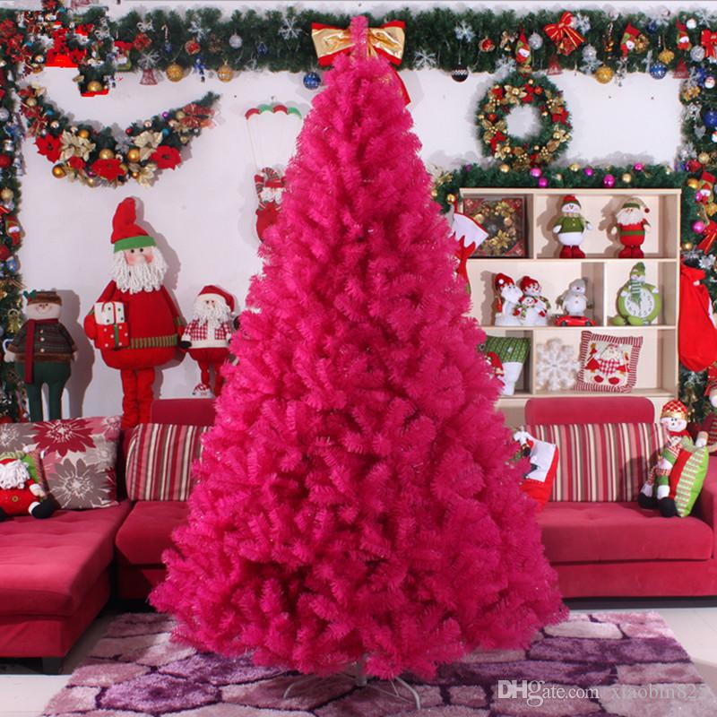 christmas preferred 30m 300cm large christmas tree factory outlets rose red color christmas tree christmas supplies decor ornaments decorate christmas - Christmas Decorations Factory Outlet