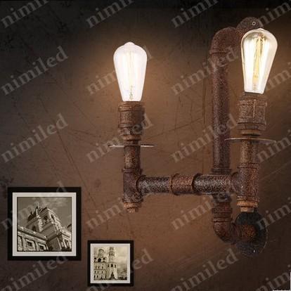 nimi816 American Retro Vintage Iron Pipe applique da parete Loft industriale personalità creativa Cafe Bar corridoio lampada decorativa illuminazione