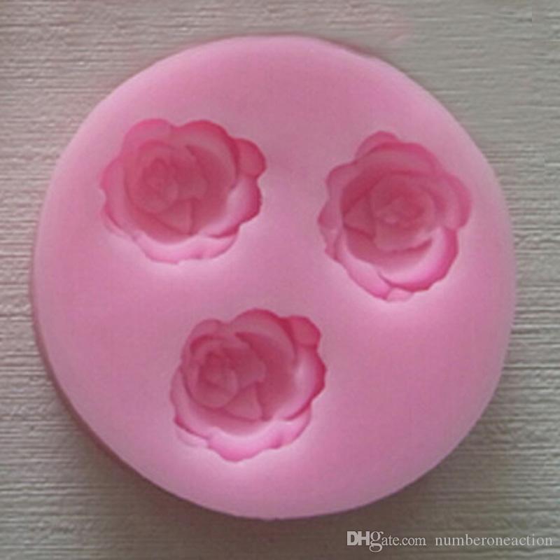 Nicole 3D Flor Silicone Mini Molde Handmade Bolo De Chocolate Fondant Sugar Craft Ferramenta De Decoração De Cozimento
