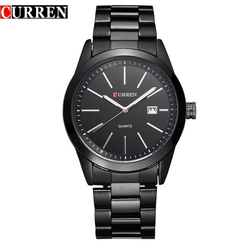 Compre CURREN 8091 Barbecho Estilo Conciso Relojes De Negocios Hombre De  Moda Fashion Watch Full Steel Dial Wristwatches Calendario De Cuarzo Hombres  ... e0f2a59727ff
