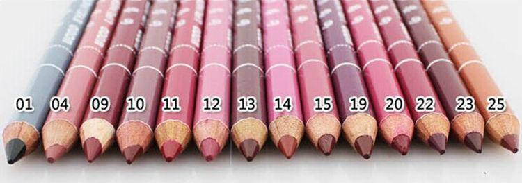 En Satış lipliner 28 Renkler Su Geçirmez Dudak Kalemler Eyeliner Lipliners Dudak / Göz Kalemi Makyaj Toptan Ücretsiz Kargo A-0368
