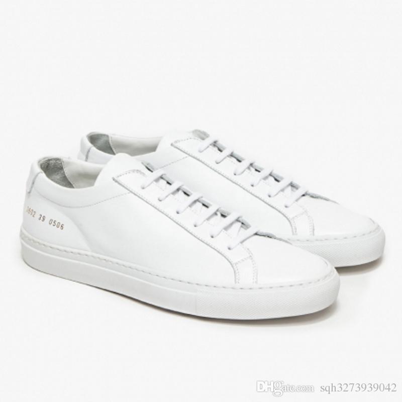 Chaussures De Sport Pour Les Femmes, Bas Blanc, Cuir, 2017, 36 37 38 39 40 Projets Communs
